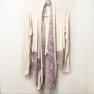 Gimmicks By BKE Embroidered Waterfall  Cardigan